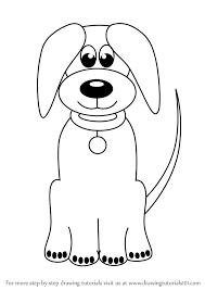 easy dog drawing tutorial. Wonderful Drawing Learn How To Draw Cartoon Dog Easy Animals For Kids Step By  Drawing  Tutorials Intended Tutorial W