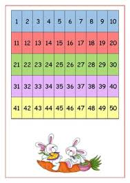 Count By 50 Chart Counting Chart From 1 50