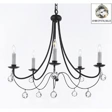empress crystal tm wrought iron chandelier chandeliers lighting x with crystal