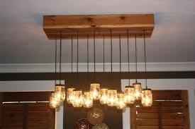 image reclaimed pallet wood mason jar chandelier thehoneydew on photo on appealing jelly jar lighting fixtures