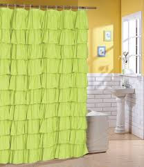curtain design green shower curtain modern style fabric material then there is a curtain rod