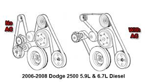 2006 2008 dodge 2500 5 9l and 6 7l diesel serpentine belt diagram 2007 dodge 2500 59 67