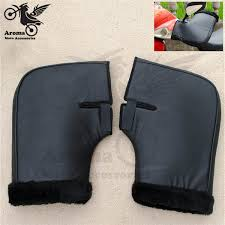 keep warm plush universal riding <b>motorbike hand guard</b> leather ...
