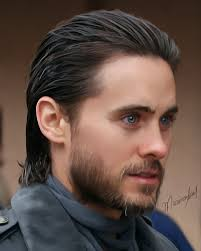 Slicked Back Hair Style jared leto slicked back hairstyle with pomade famous mens 3896 by stevesalt.us