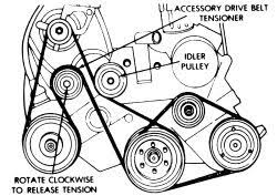 solved 98 plymouth voyager power steering belt fixya