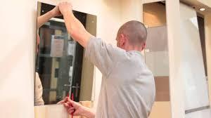 Adhesive Bathroom Mirror Mirror Installation Video Youtube