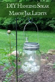 Diy Solar Lights In Mason Jars Hanging Solar Mason Jar Lights Dollar Tree Diy Craft Idea