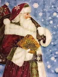 Santa Father Christmas Winter St Nicholas Panel Cotton Fabric ... & Santa Father Christmas Winter St Nicholas Panel Cotton Fabric Quilt Fabric  QT22 Adamdwight.com