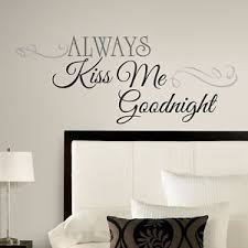 Small Picture New Large ALWAYS KISS ME GOODNIGHT WALL DECALS Bedroom Stickers