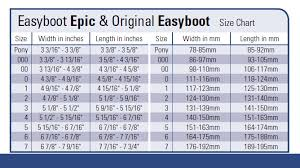 Easyboot Cloud Size Chart Boot Range Hoof Boot Sizing Easyshoe Sizing
