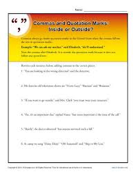 Commas And Quotation Marks Inside Or Outside Punctuation