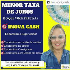 Achei em Palmas - #Repost @inova_cash • • • • • • inova_cash Procurando a  menor taxa de juros? Então, vem pra cá! Inova Cash a solução em  empréstimos! 🎯 Empréstimo no