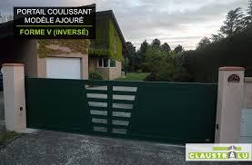 Portail Design Coulissant Aluminium Prix Direct Usine Claustralu