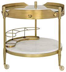 antique bar cart. Unique Bar Cart Round Pasquale Modern Industrial Antique Brass Stone C
