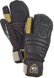 Hestra Waterproof Ski Gloves Mens And Womens Pro Model Leather Winter 3 Finger Mitten