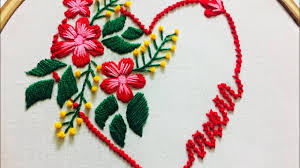 Love Hand Embroidery Designs Hand Embroidery Love Design By Nakshi Design Art