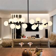g4 led bulb included black magic bean led chandelier lights living dining room modern led