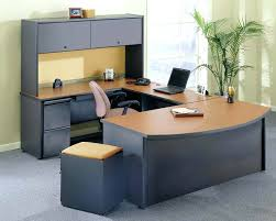 Home Office Computer Desk With Hutch In Dark Walnut Finish Interior  Makeover Build Your Own Simple Office Design