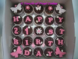 Birthday Cake 21 Year Liquor Bottle Decorations 21st Cupcakes Ideas