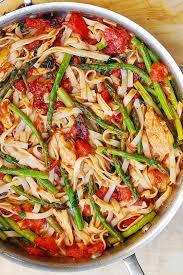 healthy chicken pasta recipes. Contemporary Chicken Tomato Asparagus Chicken Pasta Intended Healthy Recipes C