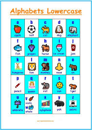 Lower Case Alphabets Chart Happy Kids And Moms