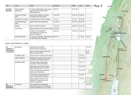 Jesus Life Timeline Chart Jesus Later Ministry In Judea Chart And Map Nwt
