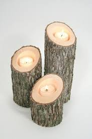 candleholder craft wood rustic Candles