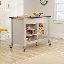 Amazon.com - Oliver and Smith - Nashville Collection - Mobile Kitchen Island  Cart on Wheels - Wooden Grey - Natural Oak Butcher Block - 30