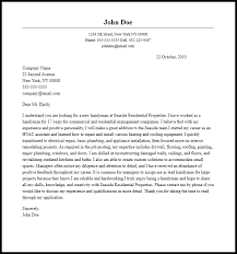 Professional Handyman Cover Letter Sample Writing Guide