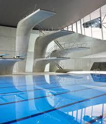 public swimming pools with diving boards. Aquatics Centre, London, Zaha Hadid Sculpturally Shaped Diving Boards Public Swimming Pools With D