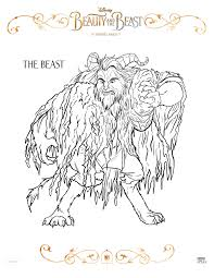 Small Picture Beauty and the Beast Coloring sheets and free printables