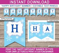 Birthday Banner Printable Free Printable Happy Birthday Banner Letters Frozen