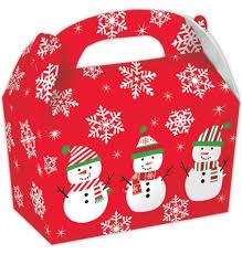 Christmas Party Boxes Snowman Pack - 5pcs
