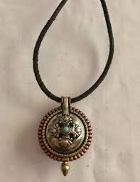buddhist prayer box pendant