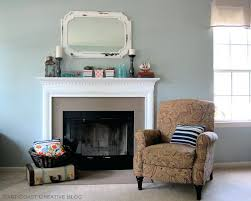 mid century modern fireplace mantel ornate blue painted fireplace mantel with artwork wall decors also charming