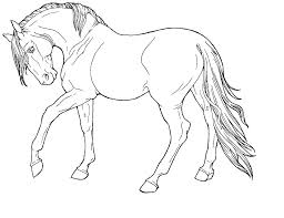 Printable Race Horse Coloring Pages Draft Realistic Horses Pa