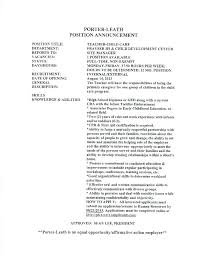 Child Care Cover Letter Cover Letter For Child Care Assistant