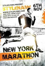New York Marathon Psd Flyer Template Sport Flyers Sports Flyer