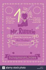 Birthday Invitation Flier With Hand Drawn Calligraphic Frames Stock