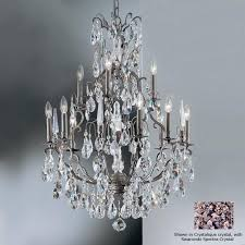 bronze chandelier with crystals engaging classic lighting versailles