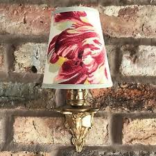 laura ashley small handmade candle clip lampshade for wall lights chandelier