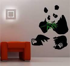 image is loading stunning giant panda wall art sticker vinyl bedroom on giant panda wall art with stunning giant panda wall art sticker vinyl bedroom ebay