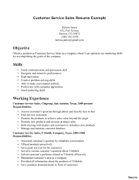 Free Sample Resume For Customer Service Representative Customer Service Representative Resume With No Experience Free 22