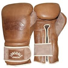 details about lonsdale vintage leather old school training sparring boxing gloves 16oz 18oz
