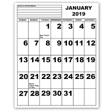 print a calendar 2019 maxiaids jumbo print calendar 2019