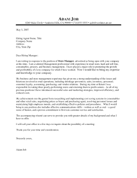 Template Cover Letter Sample For Assistant Manager Retail Resume