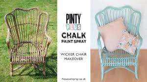 painted wicker furnitureDIY Chalk spray paint makeover of a 5 wicker chair using Pinty
