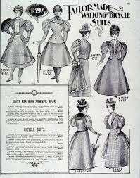 women into the and archive ad for sear s catalogue women s bicycle suits 1897