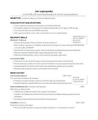 Electrical Apprentice Resume Samples Commercial Electrician Resumes Sinma Carpentersdaughter Co