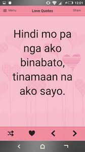 Tagalog Love Quotes Enchanting Tagalog Love Quotes For Android Free Download On MoboMarket